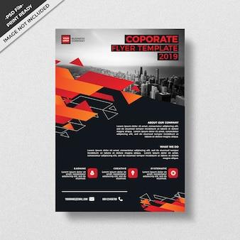 Design de modelo de panfleto corporativo de padrão de estilo moderno geometria