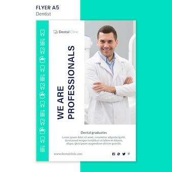 Design de modelo de panfleto de dentista