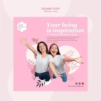 Design de modelo de panfleto de dia das mulheres