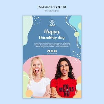 Design de modelo de panfleto de dia de amizade