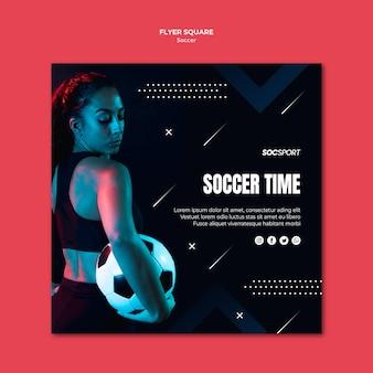 Design de modelo de panfleto de futebol
