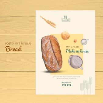 Design de modelo de panfleto de padaria