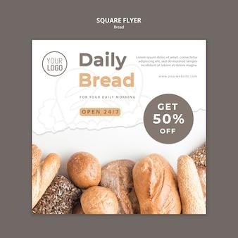 Design de modelo de panfleto de pão