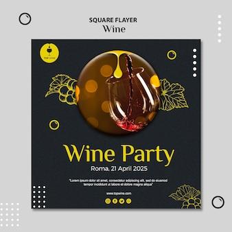 Design de modelo de panfleto de vinho
