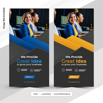 Design de modelo de postagem de histórias da business insta