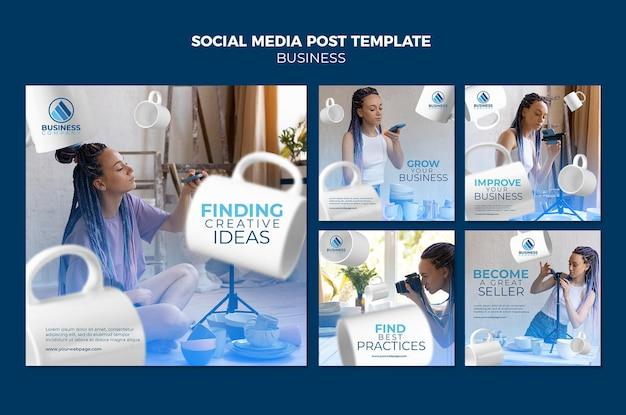 Design de modelo de postagem de mídia social