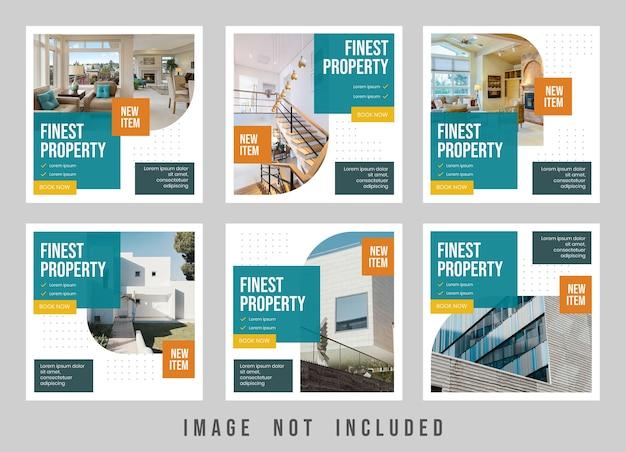 Design de modelo de postagem no instagram da melhor propriedade