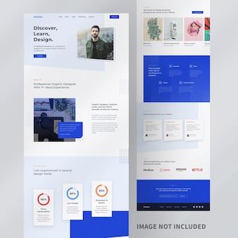 Design de modelo de site pessoal Psd Premium