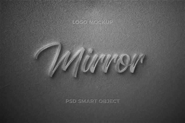 Design de modelo de texto de efeito de estilo de texto espelho