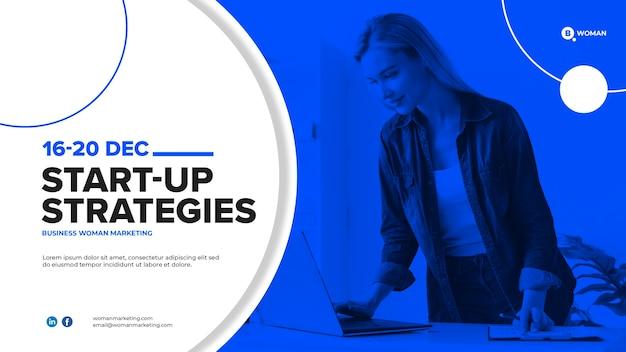 Design de modelo de web de mulher de negócios