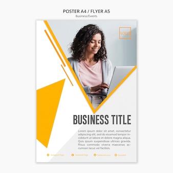 Design de modelo profissional de negócios