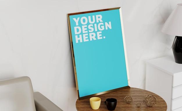 Design de moldura para fotos em branco