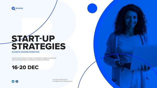 Design de mulher de negócios para modelo corporativo