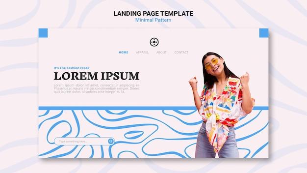 Design de página de destino de padrão mínimo
