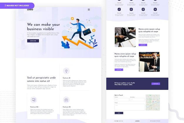 Design de página de site comercial