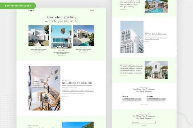Design de página de site imobiliário