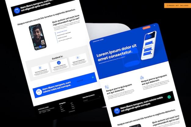 Design de página de site multiuso