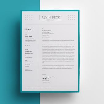 Design de papel timbrado criativo com sotaque de pasta