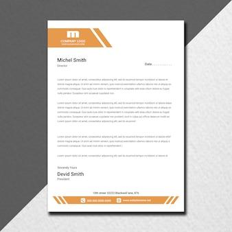 Design de papel timbrado da empresa