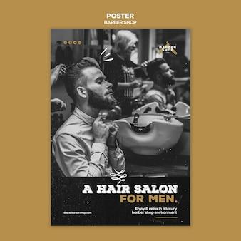 Design de pôster de barbearia