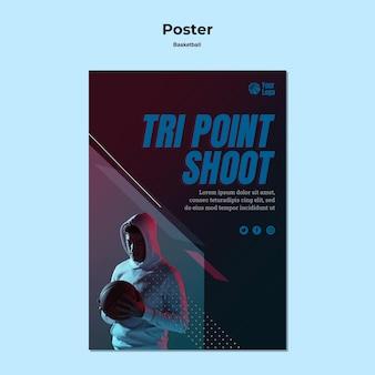 Design de pôster de basquete