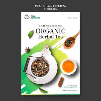 Design de pôster de chá de ervas