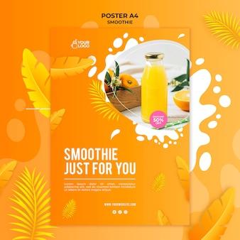 Design de pôster de smoothie