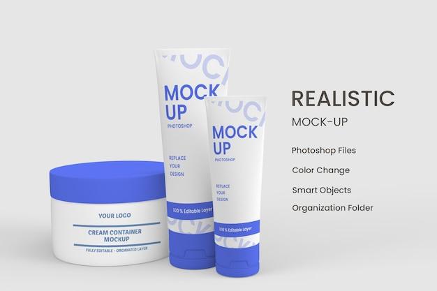 Design de produtos cosméticos hidratantes para a pele isolado