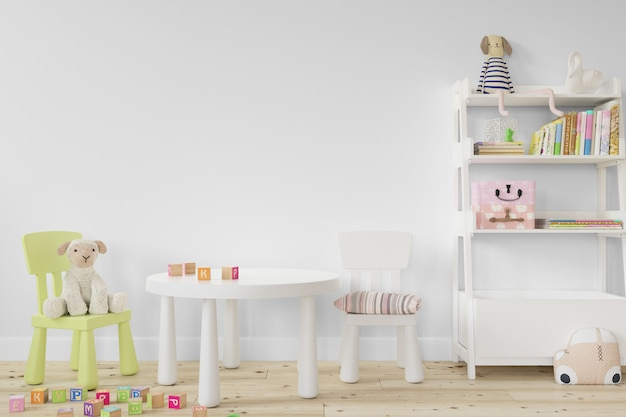 Design de quarto interior infantil