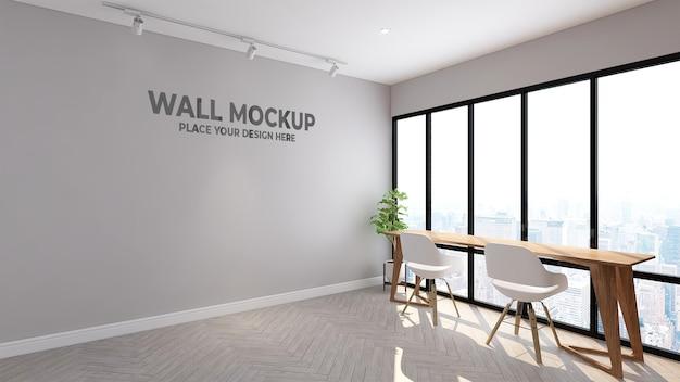 Design de quarto interior moderno com maquete de papel de parede