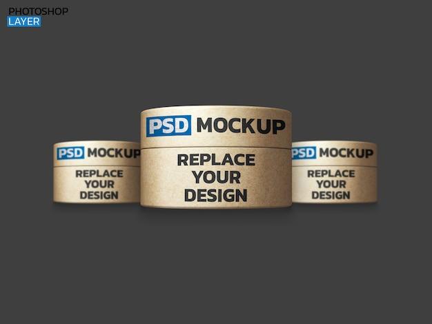 Design de renderização 3d de maquete de caixa de papel