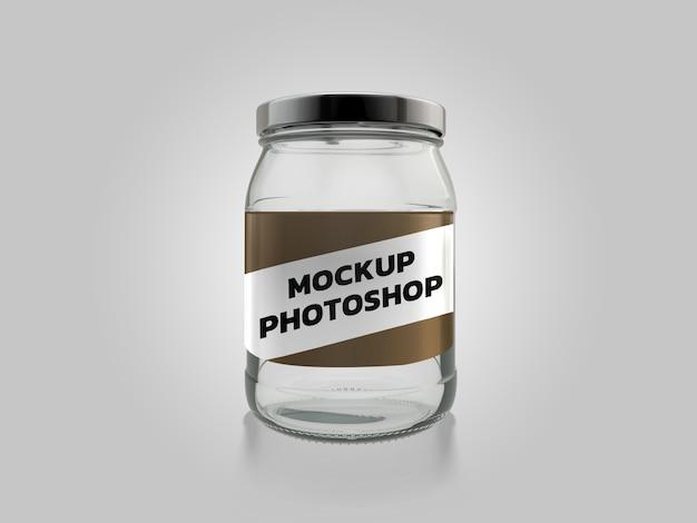 Design de renderização em 3d jar mockup
