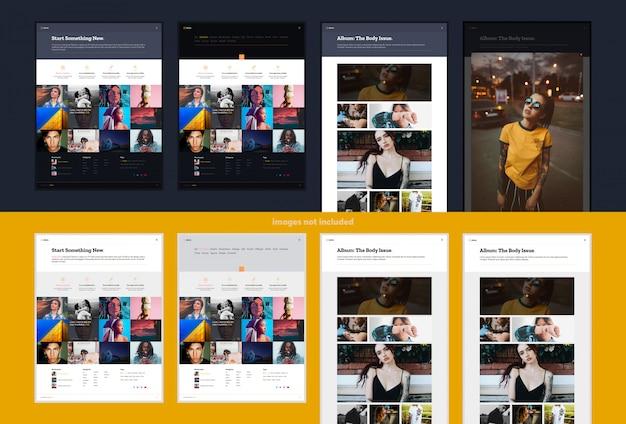 Design de site de portfólio ou galeria