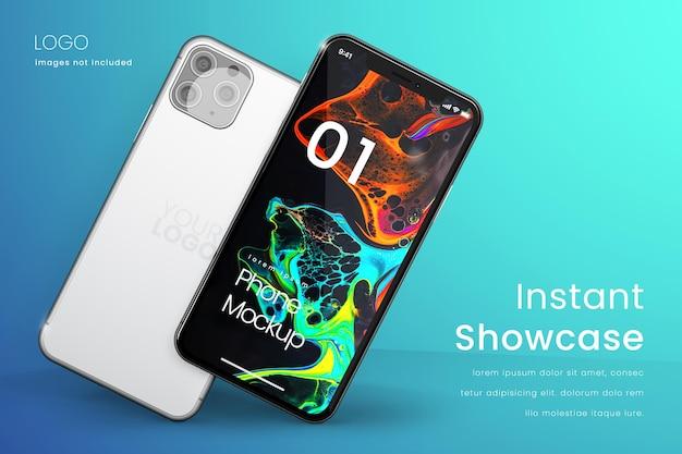 Design de tela de maquete de telefone isolado
