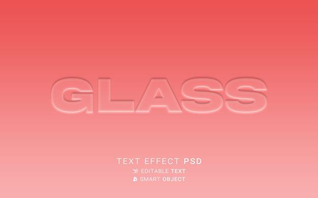 Design de vidro de efeito de texto
