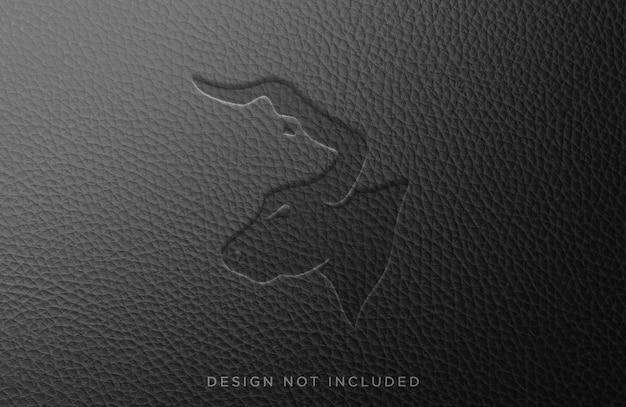 Design de vista frontal de maquete de couro prensado