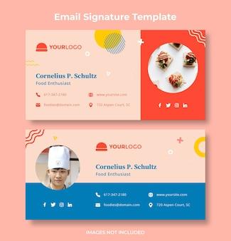 Design do banner do modelo de assinatura de email