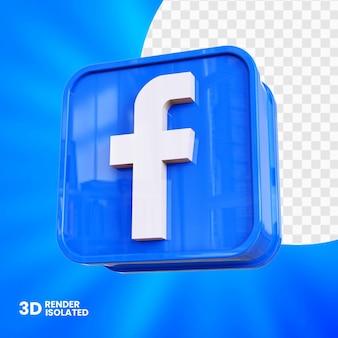 Design do botão 3d do aplicativo facebook
