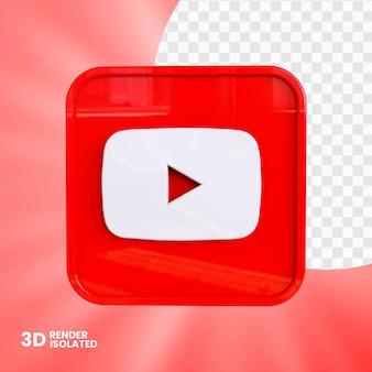Design do botão do app do youtube 3d