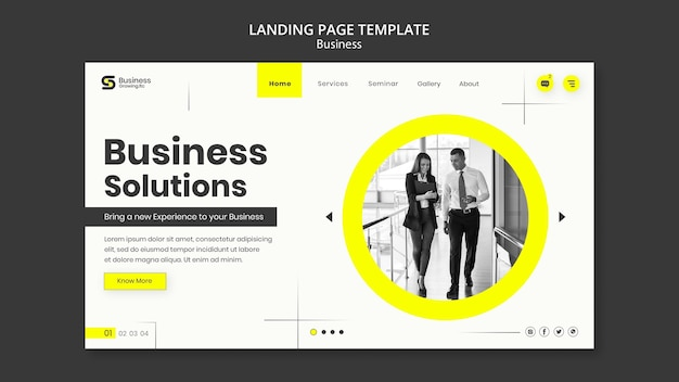 Design do modelo de negócios da página de destino