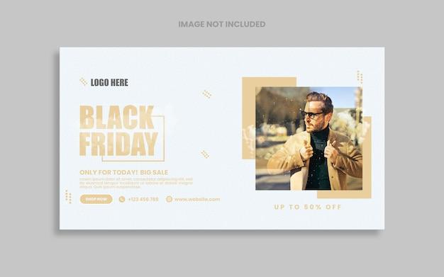 Design do modelo social da black friday fashion sale