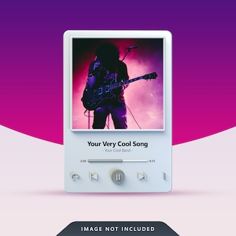 Design do player de música 3d para postagem nas redes sociais