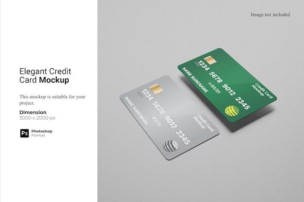 Design elegante de maquete de cartão de crédito