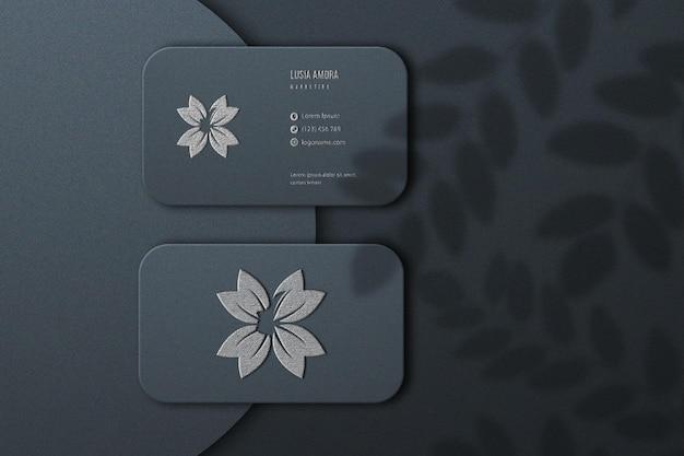 Design elegante de maquete de cartão de visita