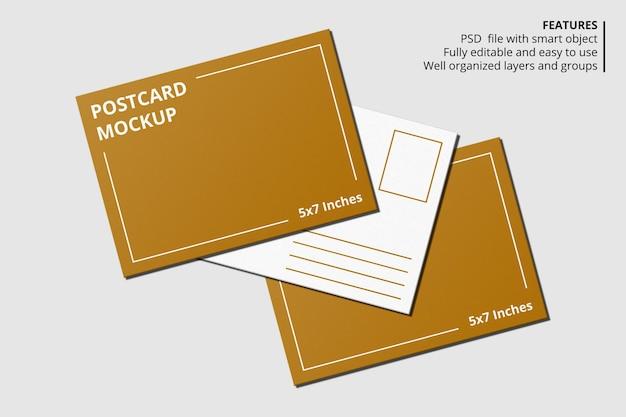 Design elegante de maquete de cartão postal