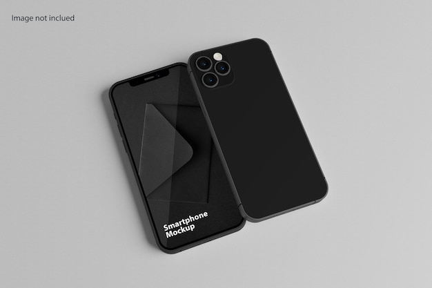Design elegante de maquete para smartphone