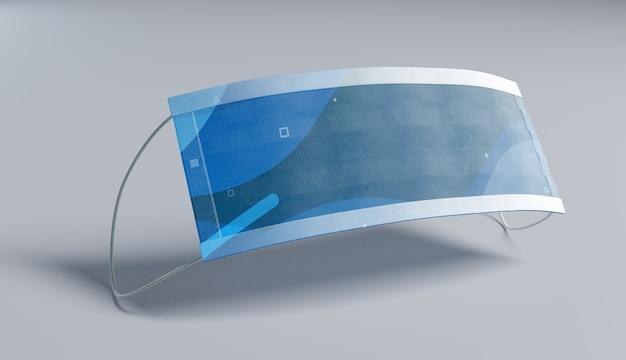 Design futurista de máscara médica