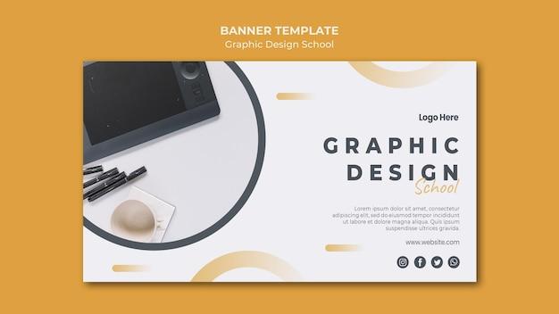 Design gráfico do modelo de banner