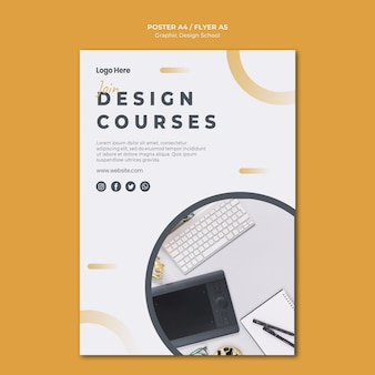 Design gráfico do modelo de folheto