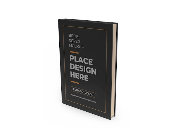 Design isolado da capa do livro 3d